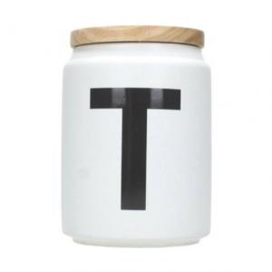 Jar wit Tea 11,5 x 11,5 x 14,5 cm