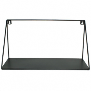 Wandrek metaal zwart L40cm B15cm H21cm