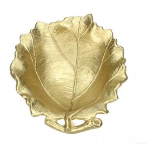 Schaaltje blad goud - S