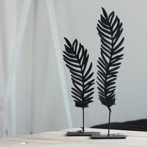 metal palmleaf black