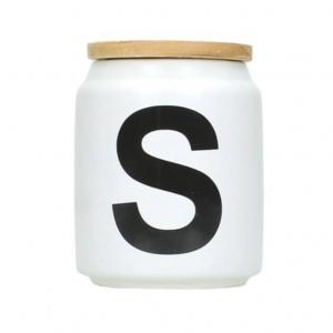 Jar wit Sugar 9x7x7cm